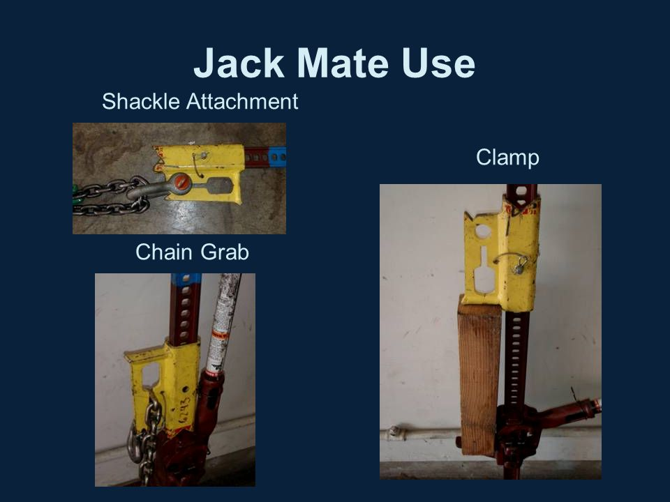 Jack Mate Use Shackle Attachment Chain Grab Clamp