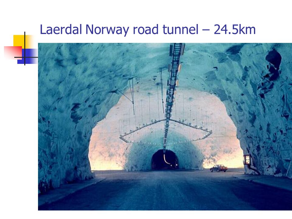 Laerdal Norway road tunnel – 24.5km
