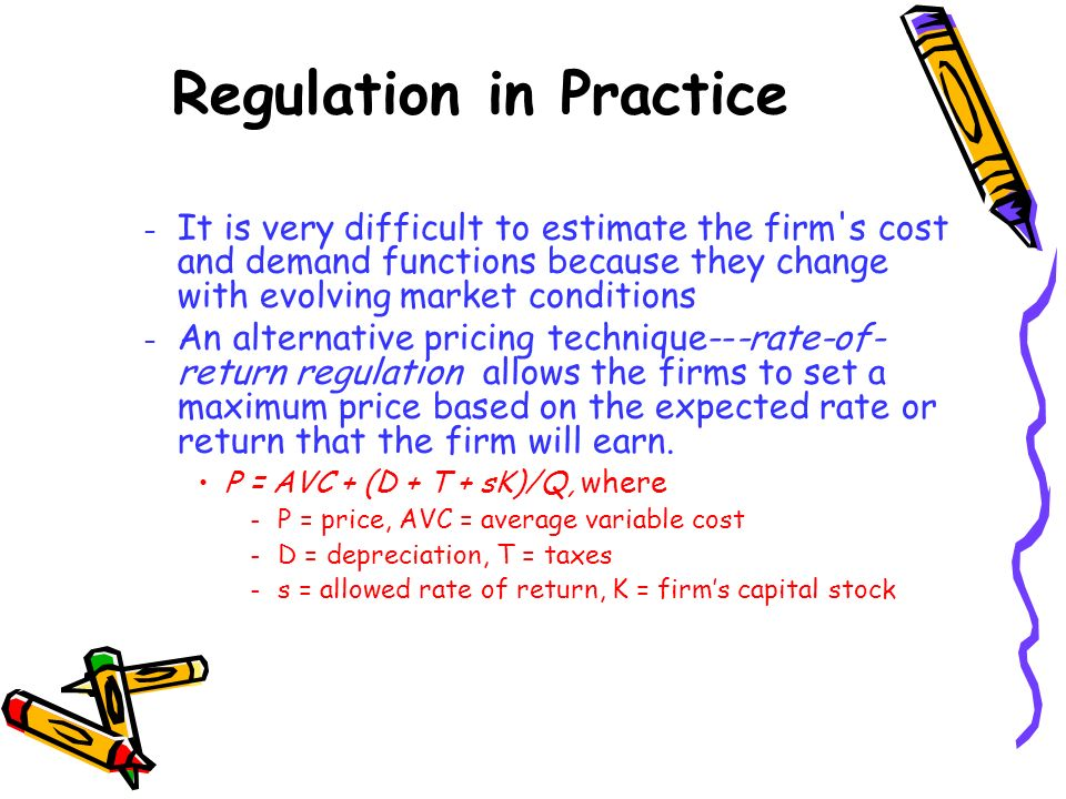 – It is very difficult to estimate the firm's cost and demand functions because they change with evolving market conditions – An alternative pricing t
