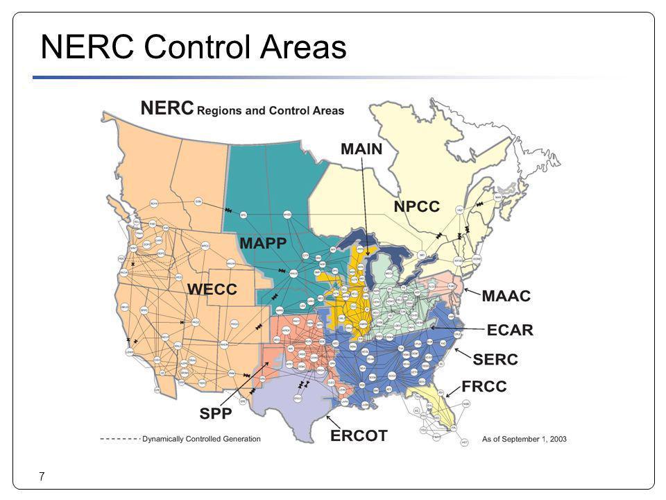 7 NERC Control Areas