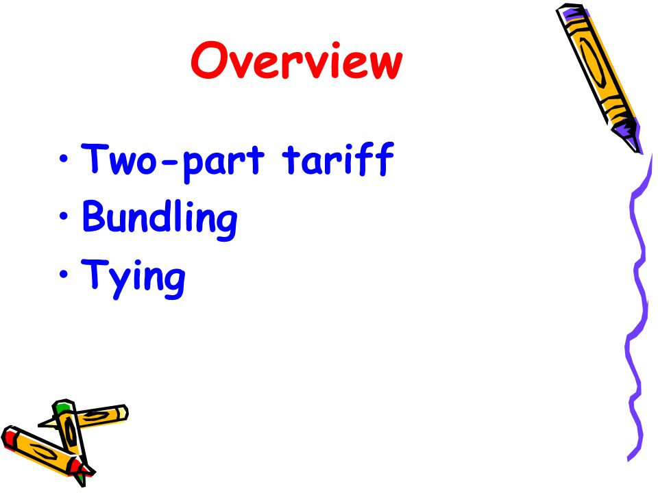 Meaning of Two-Part Tariff The purchase of some products and services can be separated into two decisions, and therefore, two prices.