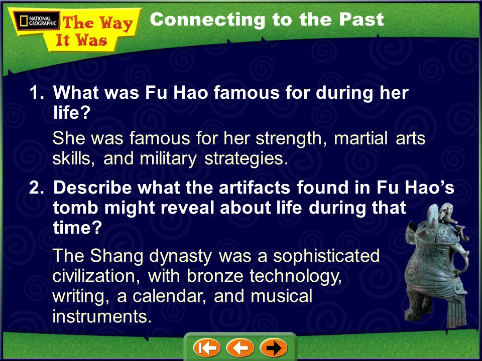 Focus on Everyday Life Zheng Zhenxiang was Chinas first female archaeologist. In 1976 she found the tomb of Fu Hao, Chinas first female general. In th