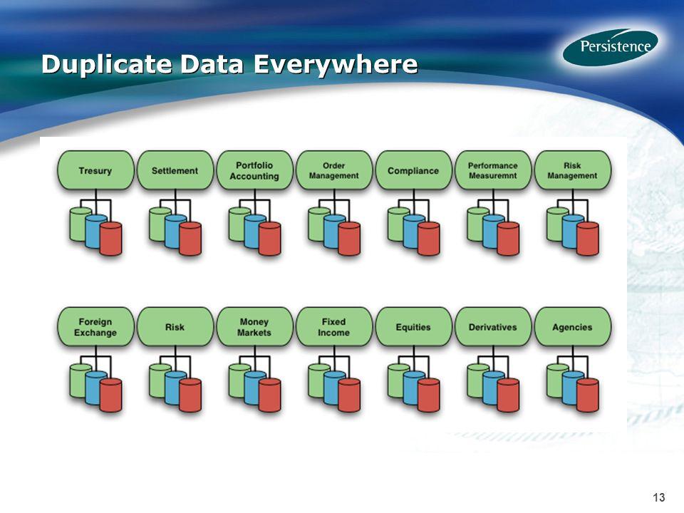 13 Duplicate Data Everywhere