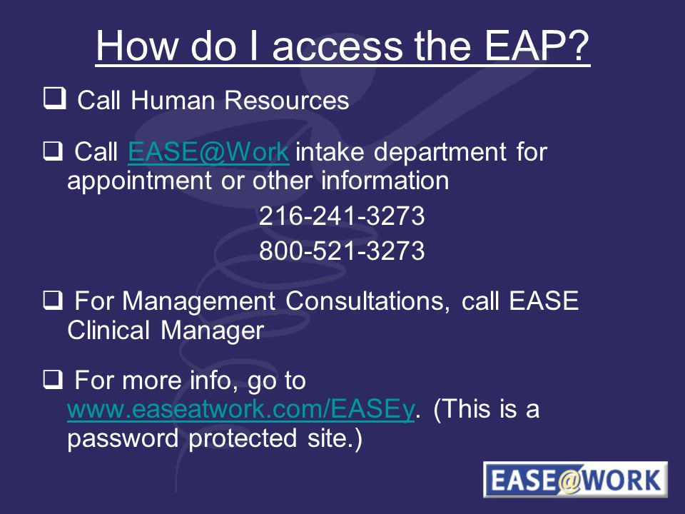 How do I access the EAP.