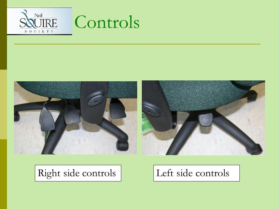Right side controlsLeft side controls Controls