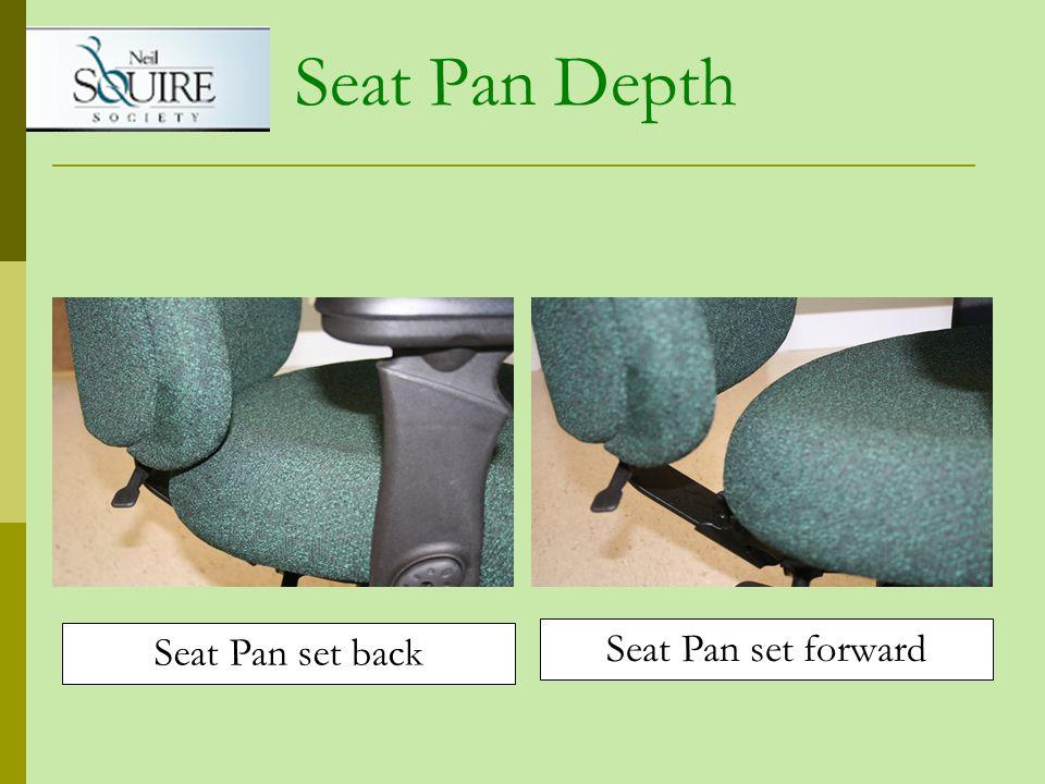Seat Pan Depth Seat Pan set back Seat Pan set forward