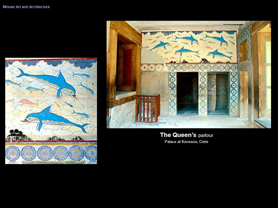 The Queens parlour Palace at Knossos, Crete Minoan Art and Architecture