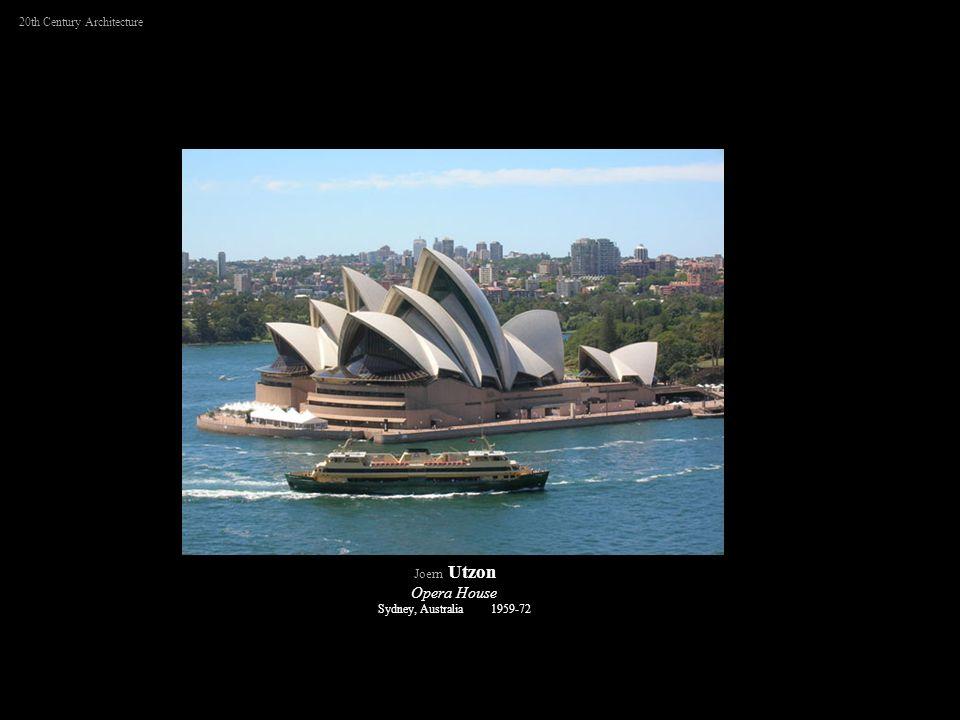 20th Century Architecture Joern Utzon Opera House Sydney, Australia 1959-72