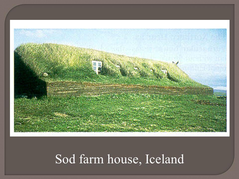 Sod farm house, Iceland