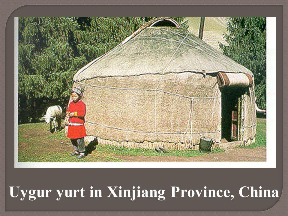 Uygur yurt in Xinjiang Province, China