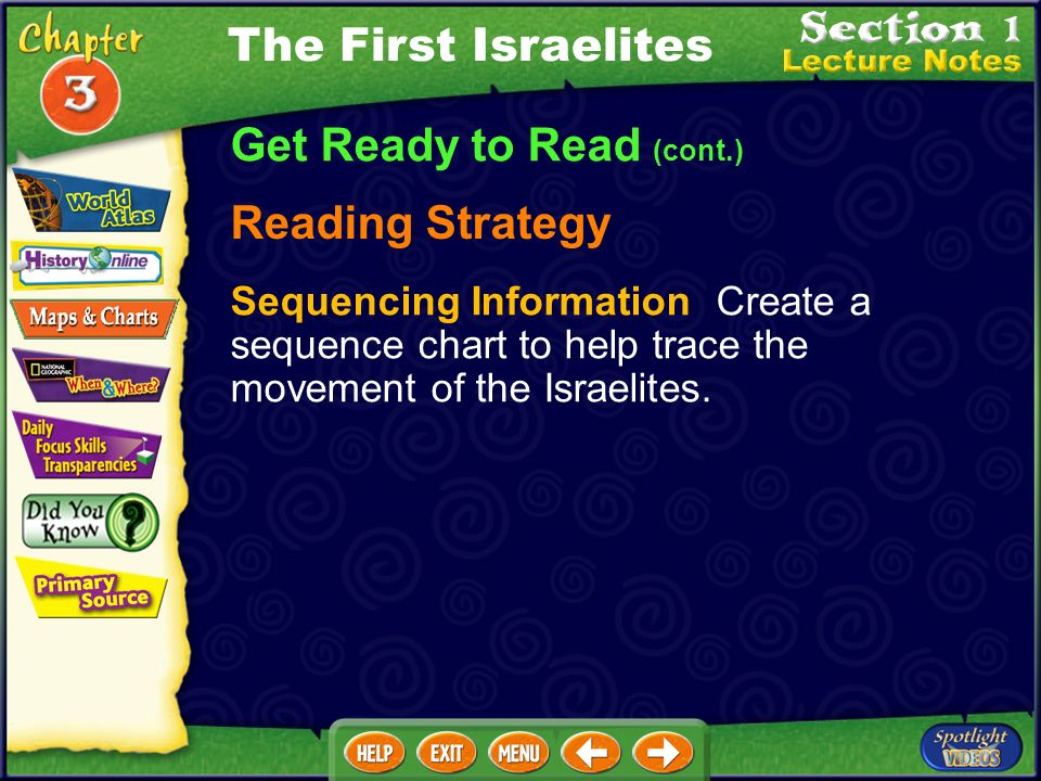 Get Ready to Read (cont.) Building Your Vocabulary monotheism (MAH·nuh·thee· IH ·zuhm) covenant (KUHV·nuhnt) alphabet tribe Torah (TOHR· UH ) The Firs