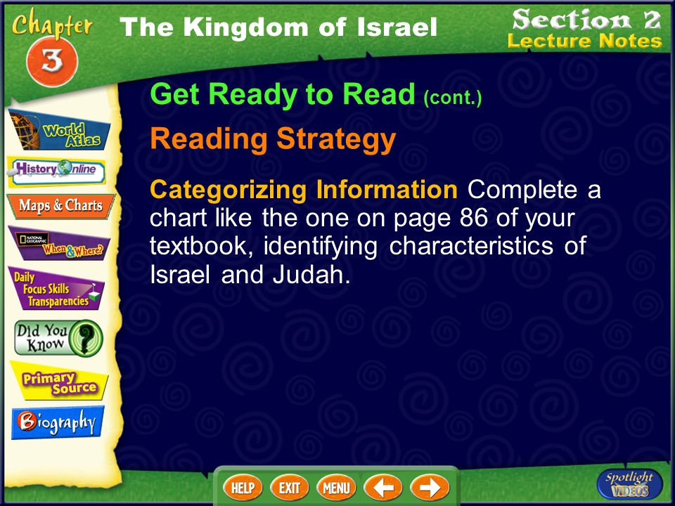 Get Ready to Read (cont.) Building Your Vocabulary prophet (PRAH·fuht) empire (EHM· PYR ) tribute (TRIH·byoot) proverb (PRAH· VUHRB ) The Kingdom of I