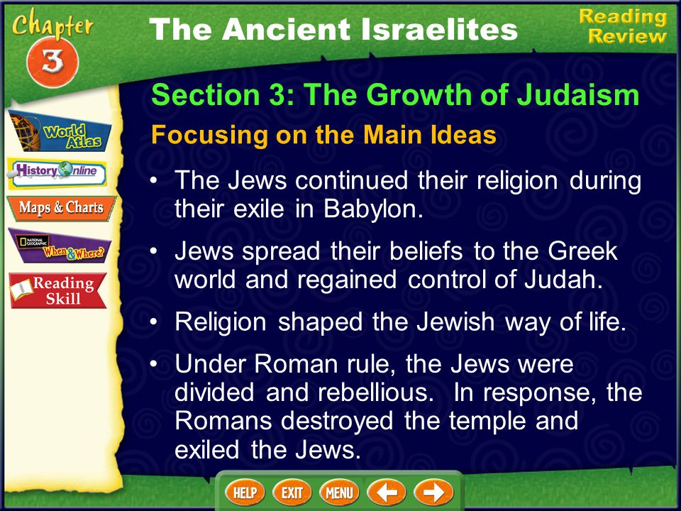 The Ancient Israelites The Israelites chose a king to unite them against their enemies. King David built an Israelite empire and made Jerusalem his ca