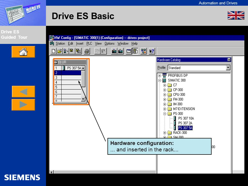 Automation and Drives Drive ES Guided Tour Intern Edition 01/02 Drive ES Basic Hardware configuration:...