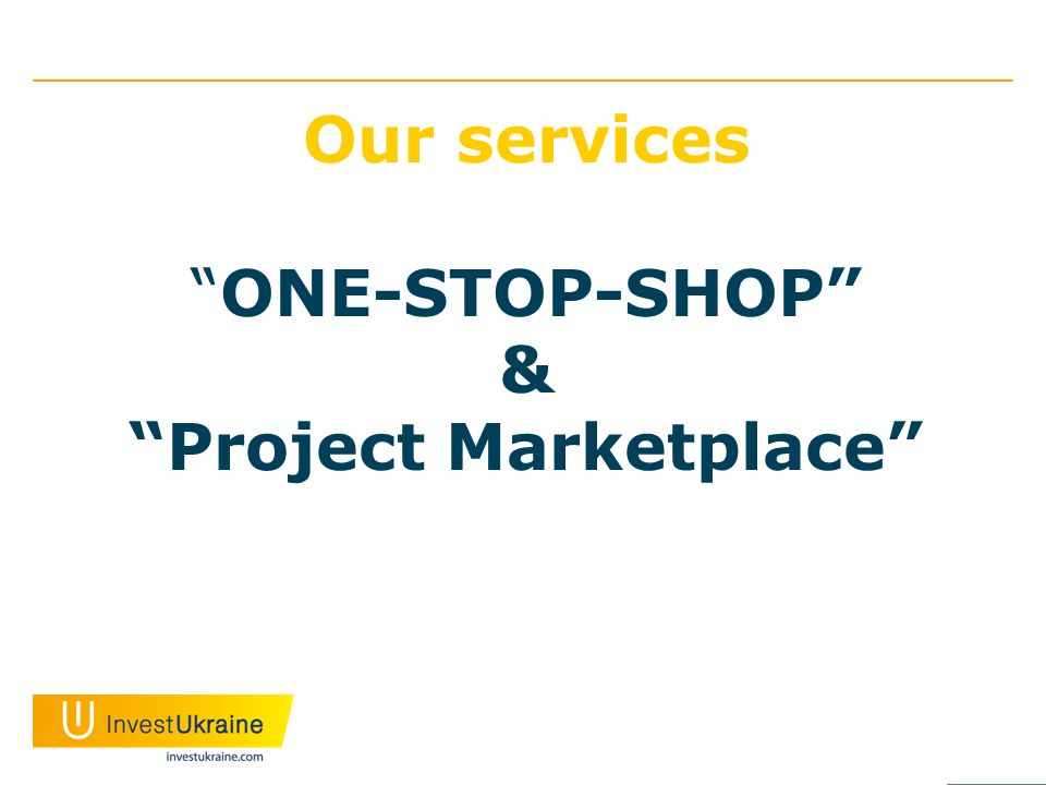 Our servicesONE-STOP-SHOP &Project Marketplace