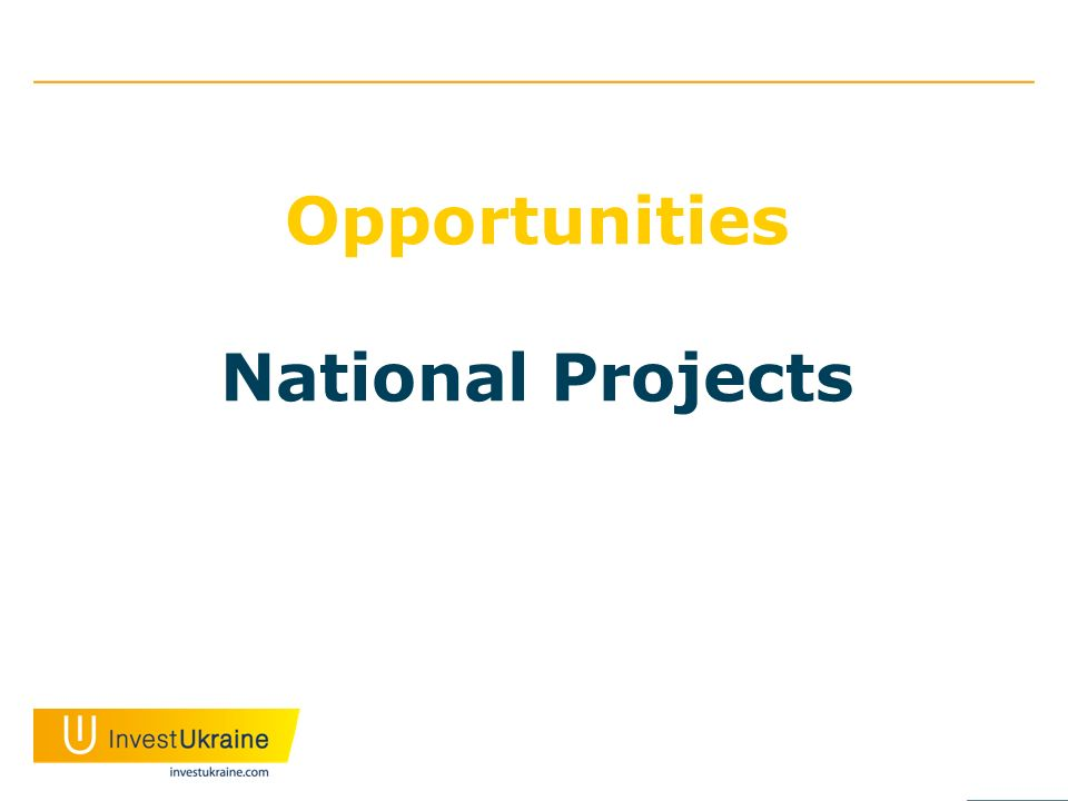 Opportunities National Projects