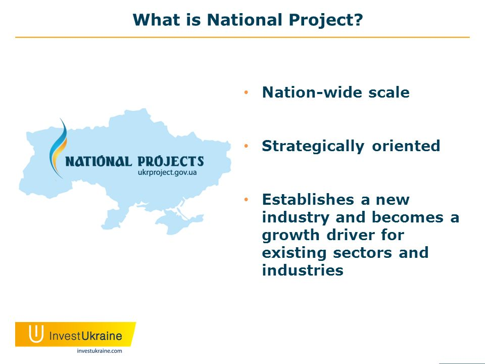 What is National Project? Nation-wide scale Strategically oriented Establishes a new industry and becomes a growth driver for existing sectors and ind
