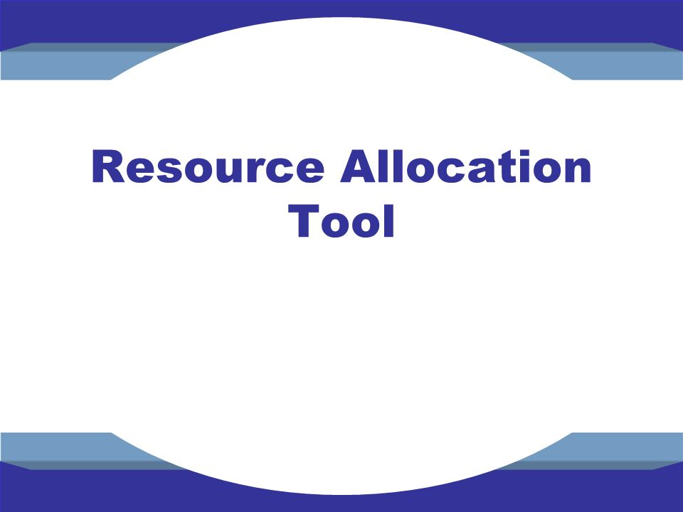 Resource Allocation Tool