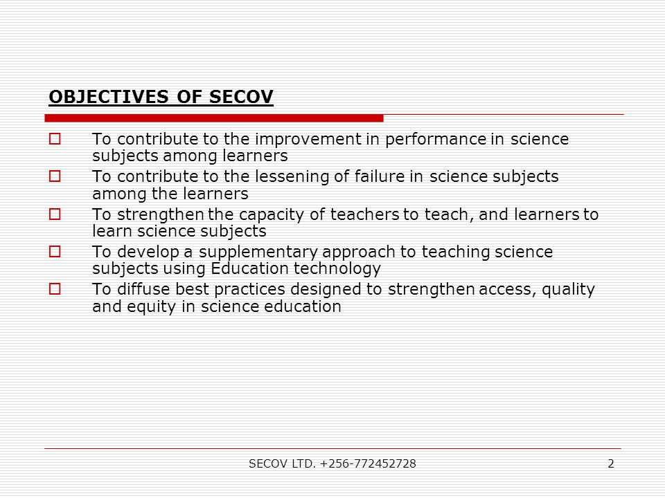 SECOV LTD.