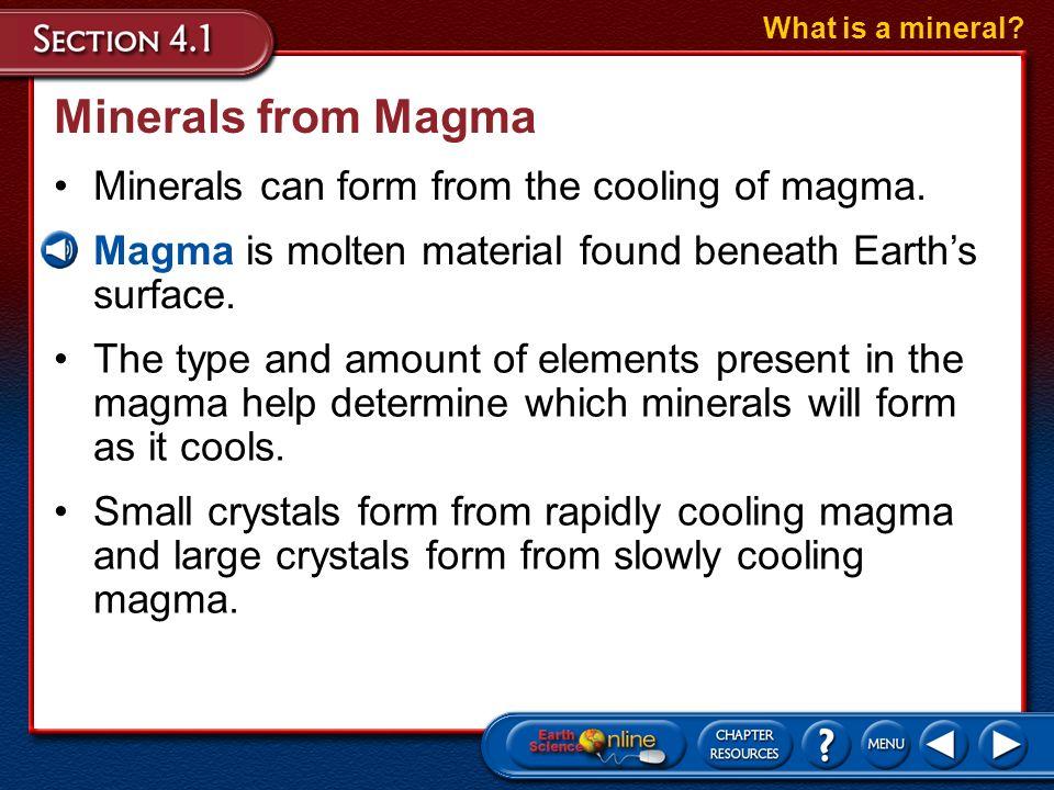 Characteristic Properties of Minerals Mineral Characteristics