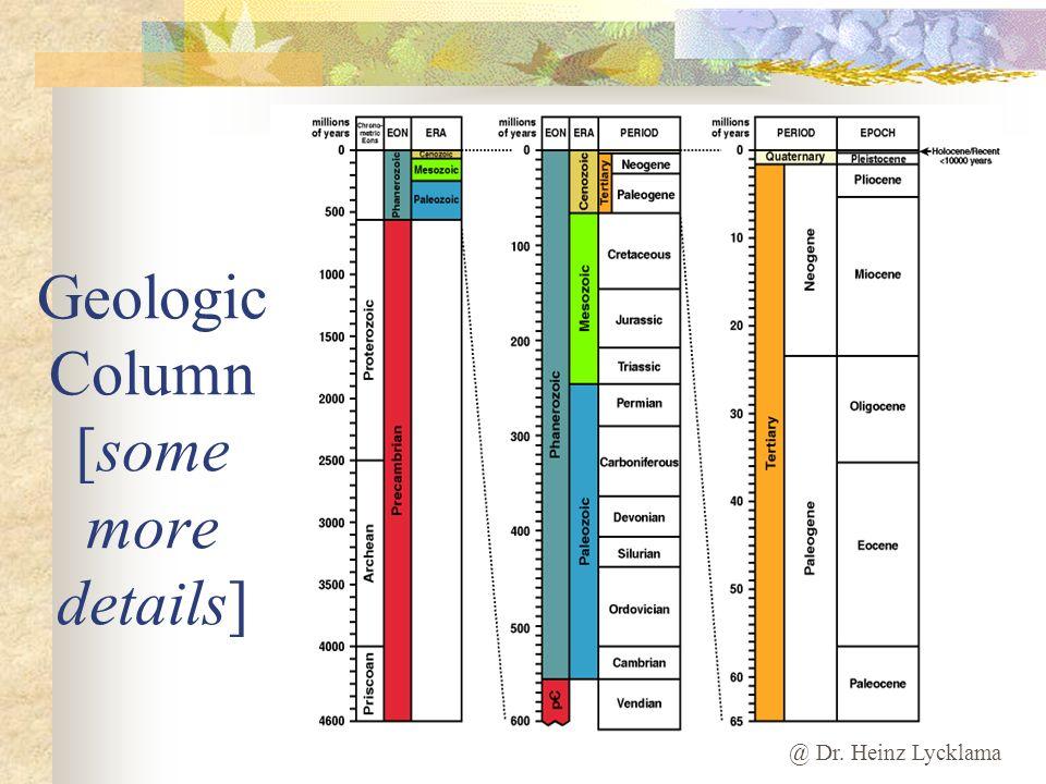 @ Dr. Heinz Lycklama Geologic Column [some more details]