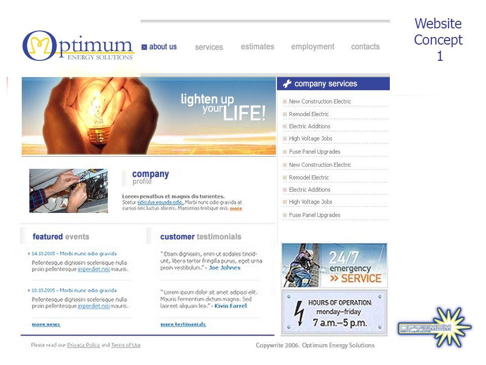 Website Concept 1