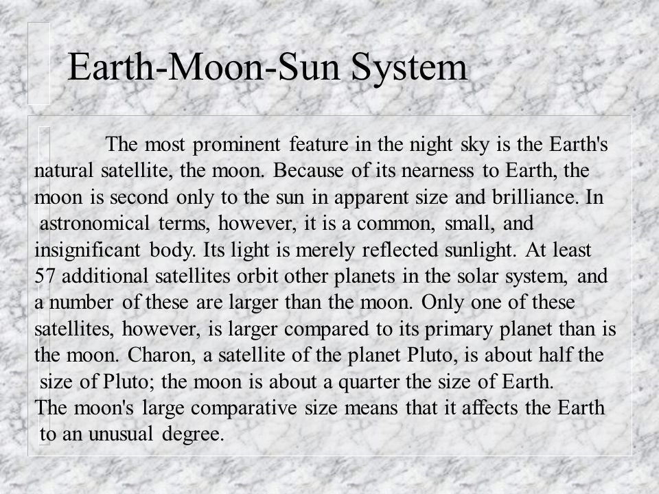 Relative Sizes of the Earth and Moon