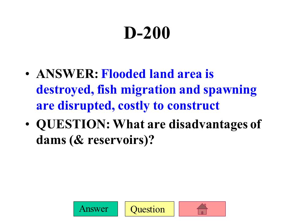Question Answer D-100 ANSWER: A thermocline QUESTION: What is the zone of temperature change from warm surface water to colder deep water?