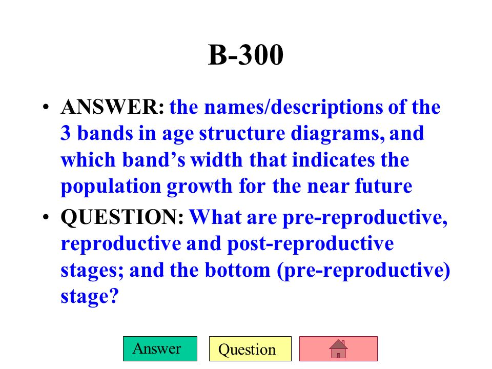 Question Answer B-200 ANSWER: The most significant factor in contributing to rapid world human population growth in the last century QUESTION: What ar