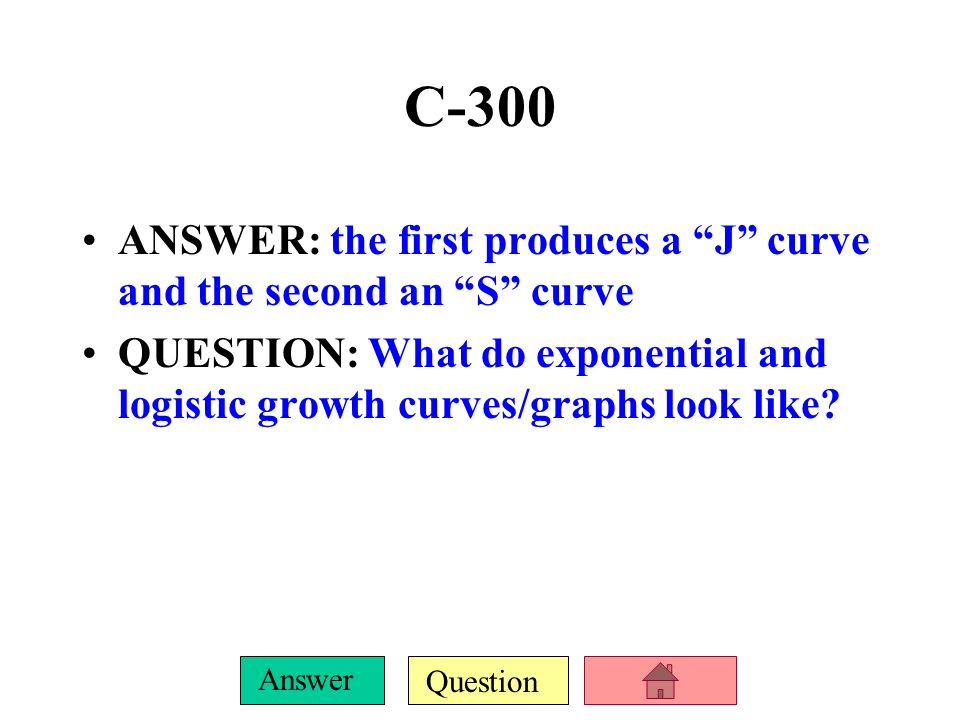 Question Answer C-200 DAILY DOUBLE! ANSWER: The name for the equation and the equation that calculates how long it takes to double a percentage rate.