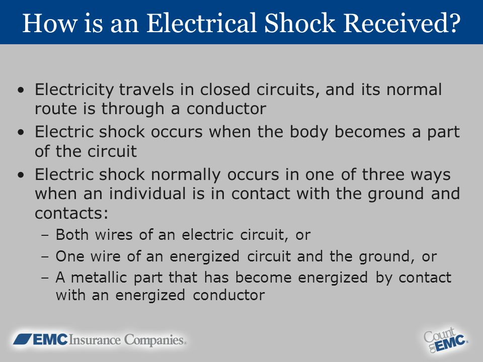 How is an Electrical Shock Received.