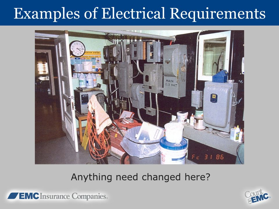 Examples of Electrical Requirements Anything need changed here?