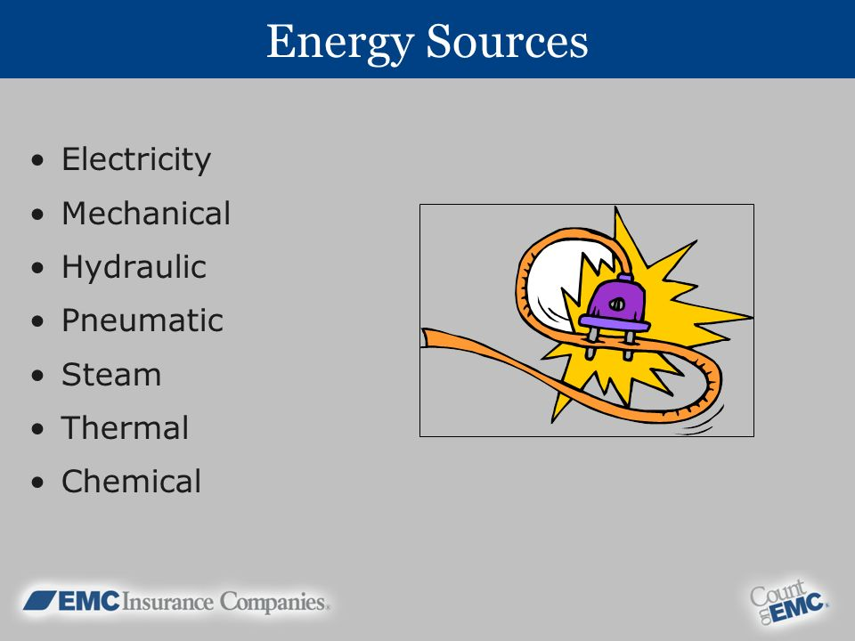 Energy Sources Electricity Mechanical Hydraulic Pneumatic Steam Thermal Chemical