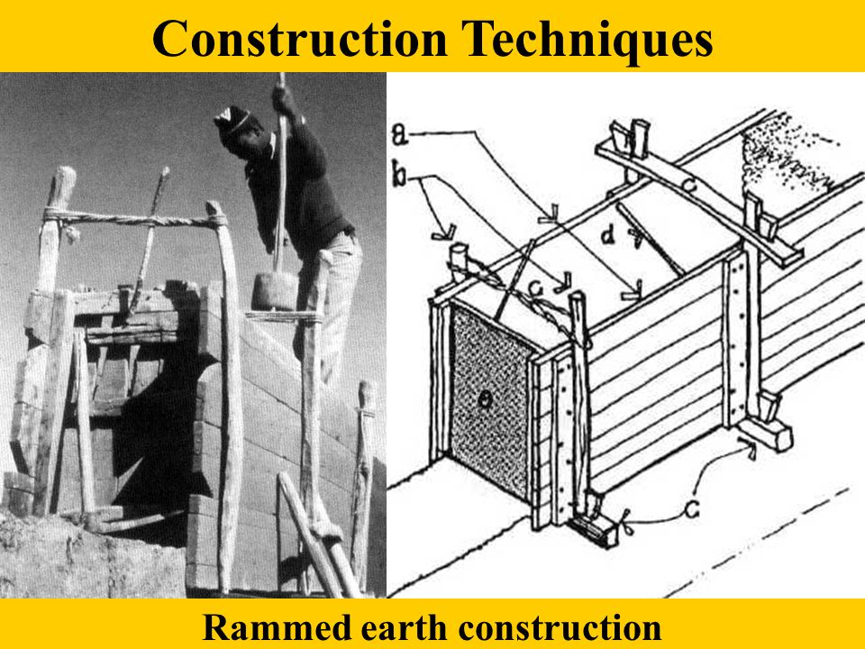 Rammed earth construction Construction Techniques