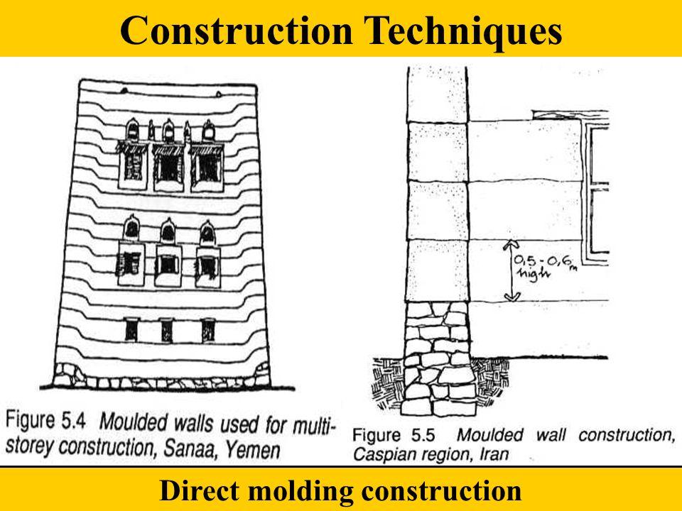 Direct molding construction Construction Techniques