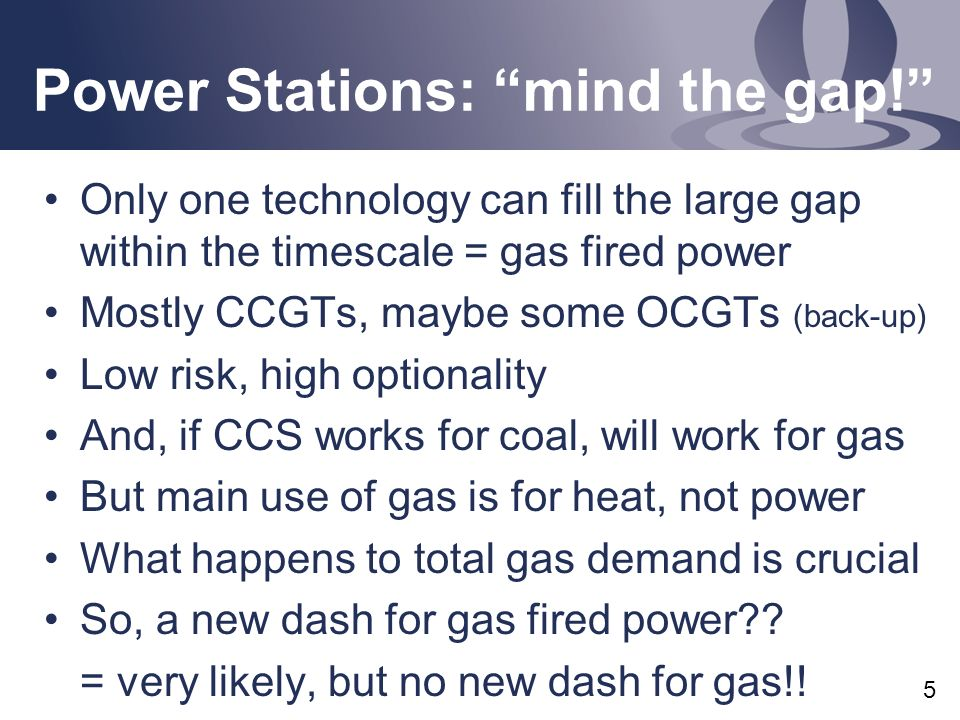 Power Stations: mind the gap.