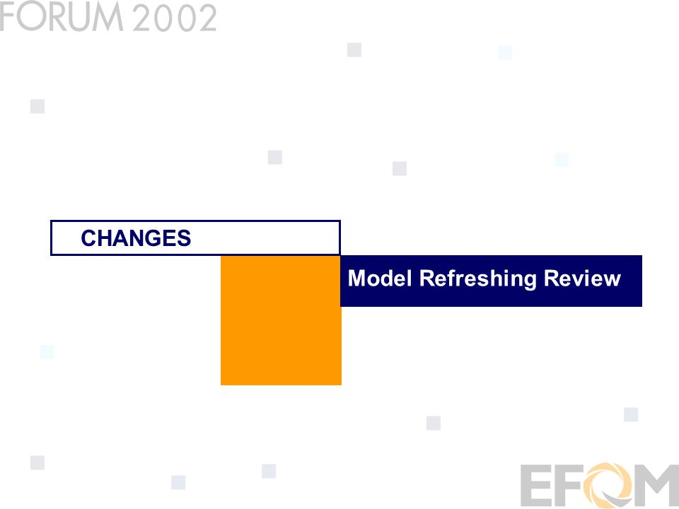 Model Refreshing Review CHANGES