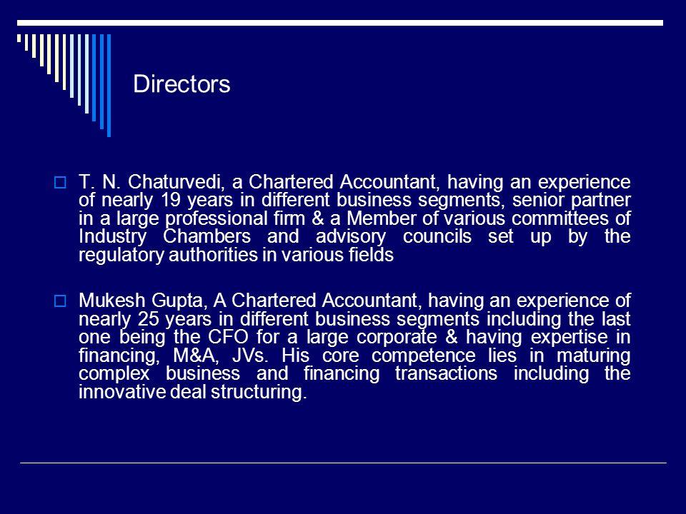 Directors T. N.
