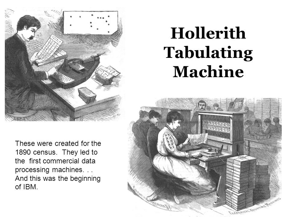 Hollerith Tabulating Machine These were created for the 1890 census.