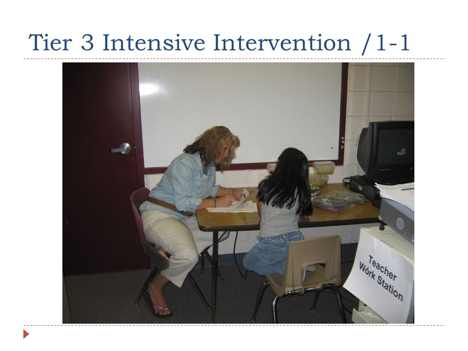 Tier 3 Intensive Intervention /1-1
