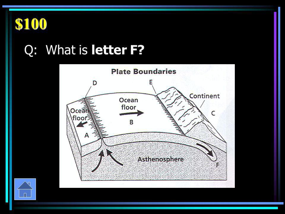 $100 Q: What is letter F?