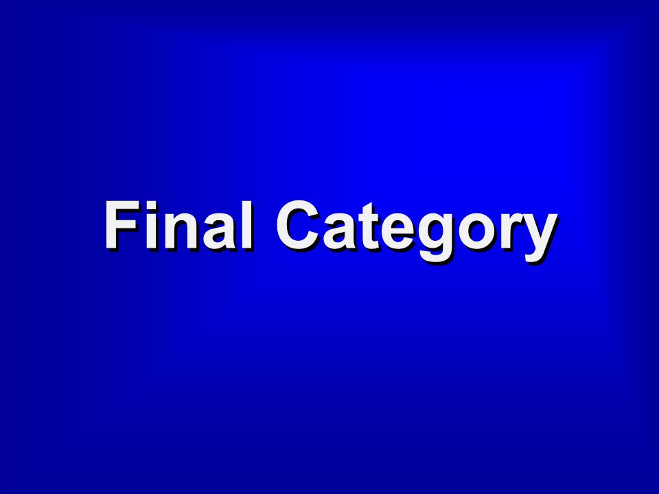 © David A. Occhino Final Jeopardy!