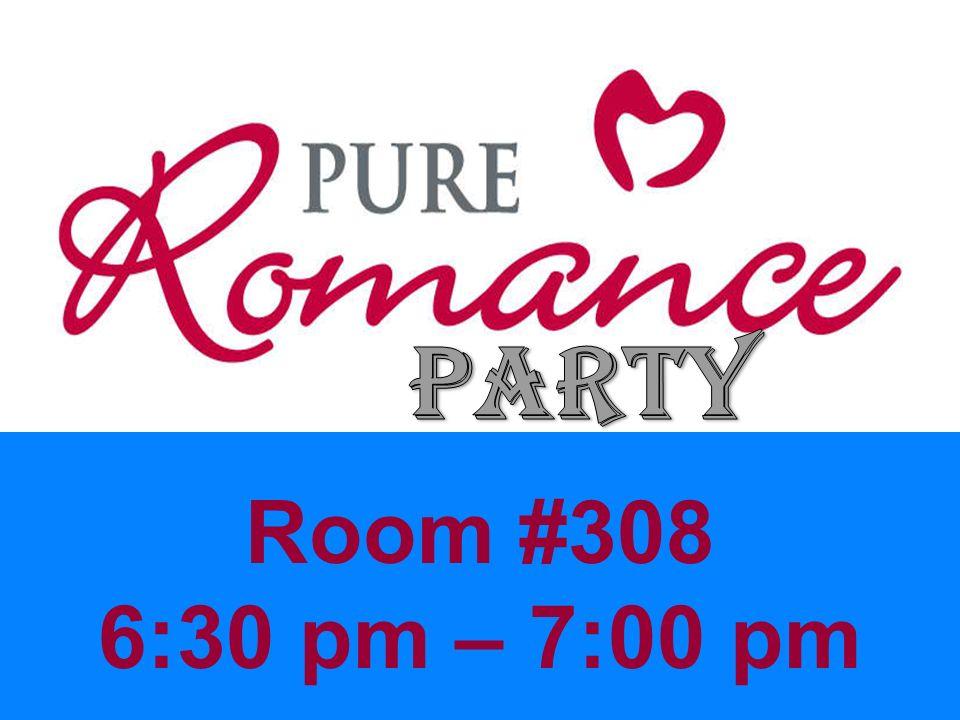 Room #308 6:30 pm – 7:00 pm