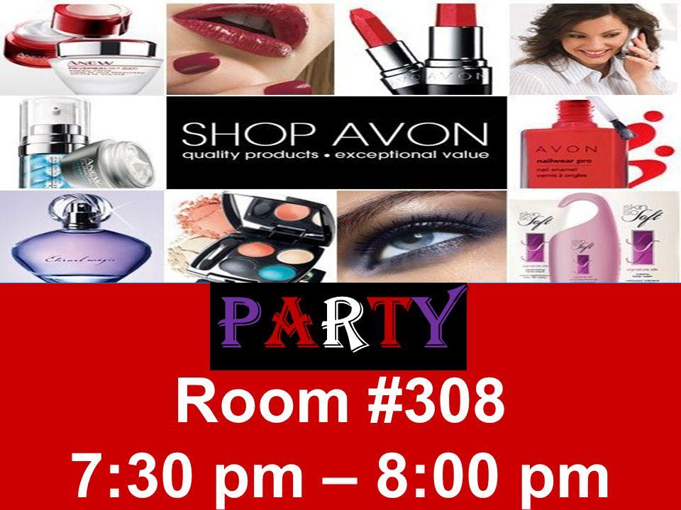 Room #308 7:30 pm – 8:00 pm