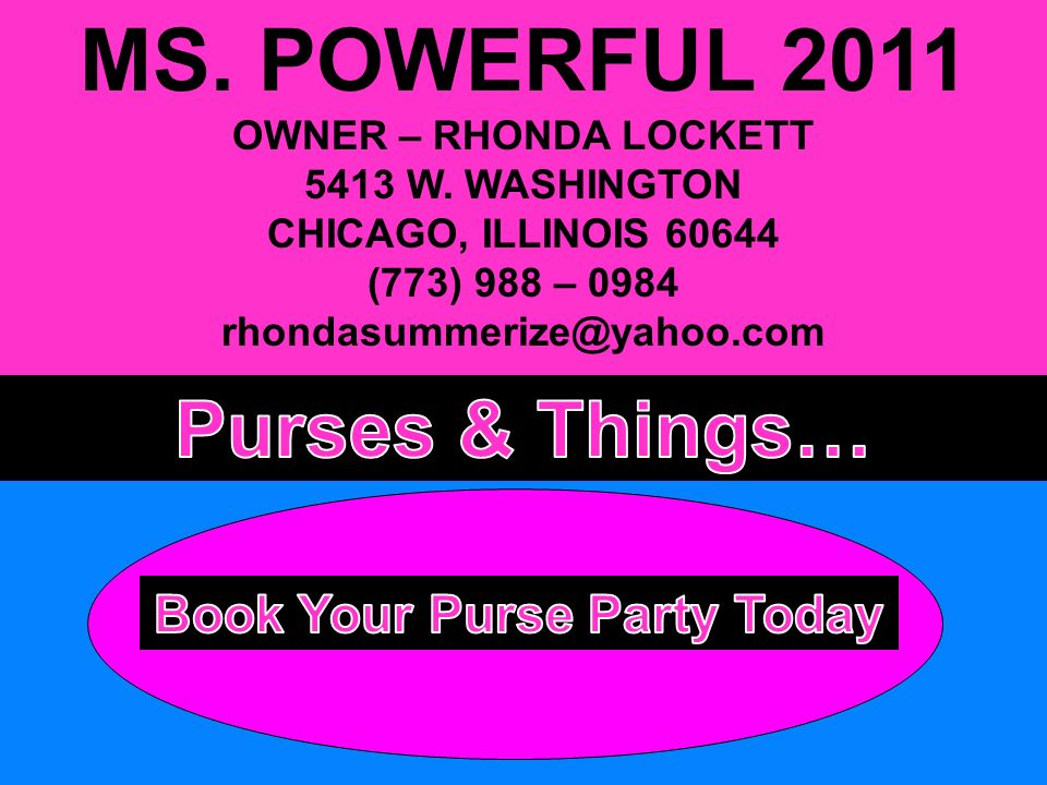 MS. POWERFUL 2011 OWNER – RHONDA LOCKETT 5413 W.