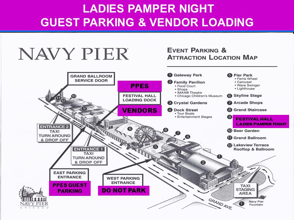 LADIES PAMPER NIGHT GUEST PARKING & VENDOR LOADING PPES VENDORS PPES GUEST PARKING FESTIVAL HALL Ladies Pamper Night DO NOT PARK
