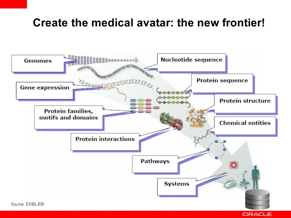 Source: EMBL-EBI Create the medical avatar: the new frontier!