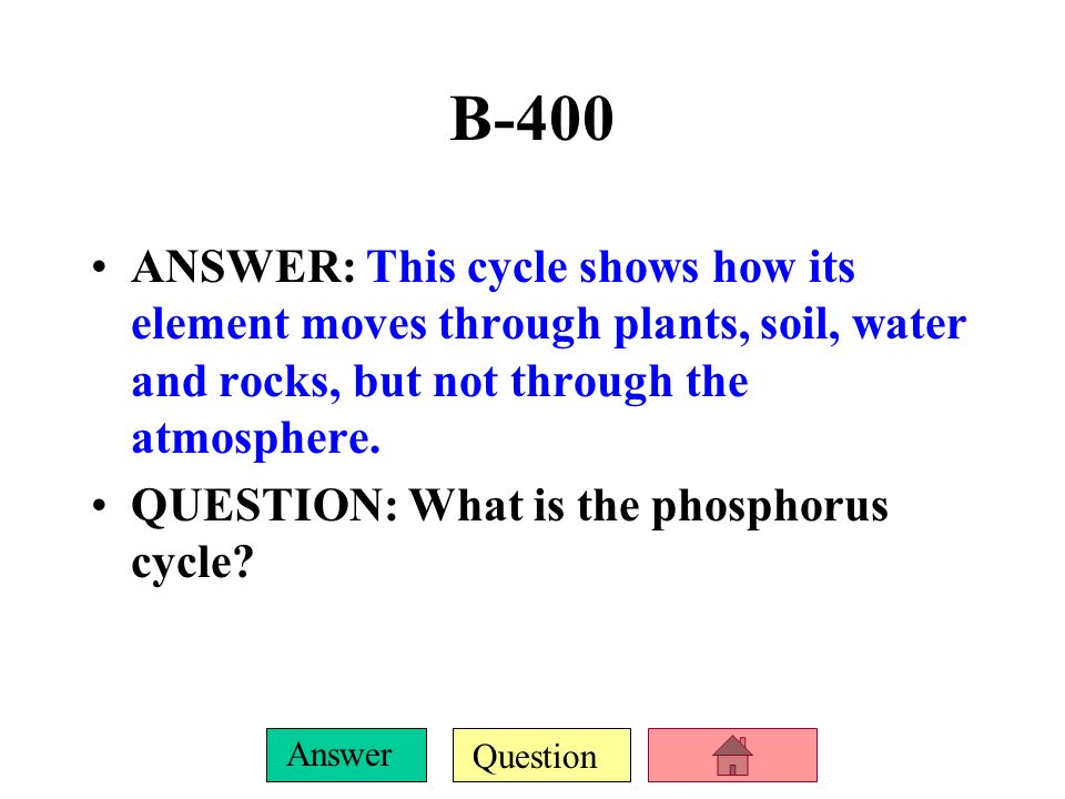 Question Answer B-300 ANSWER: The process in which soil bacteria convert N 2 from the atmosphere into ammonia, from a form plants cannot use to a form