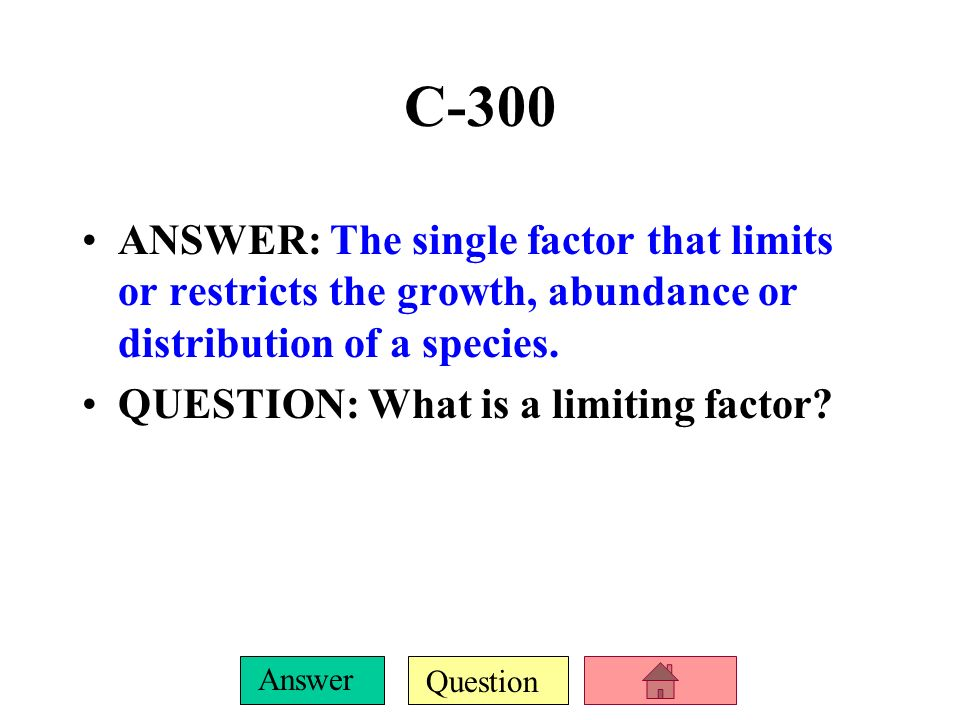 Question Answer C-200 ANSWER: Herbivores, Carnivores, Omnivores, Scavengers, Detrivores QUESTION: What are the different types of consumers in food ch