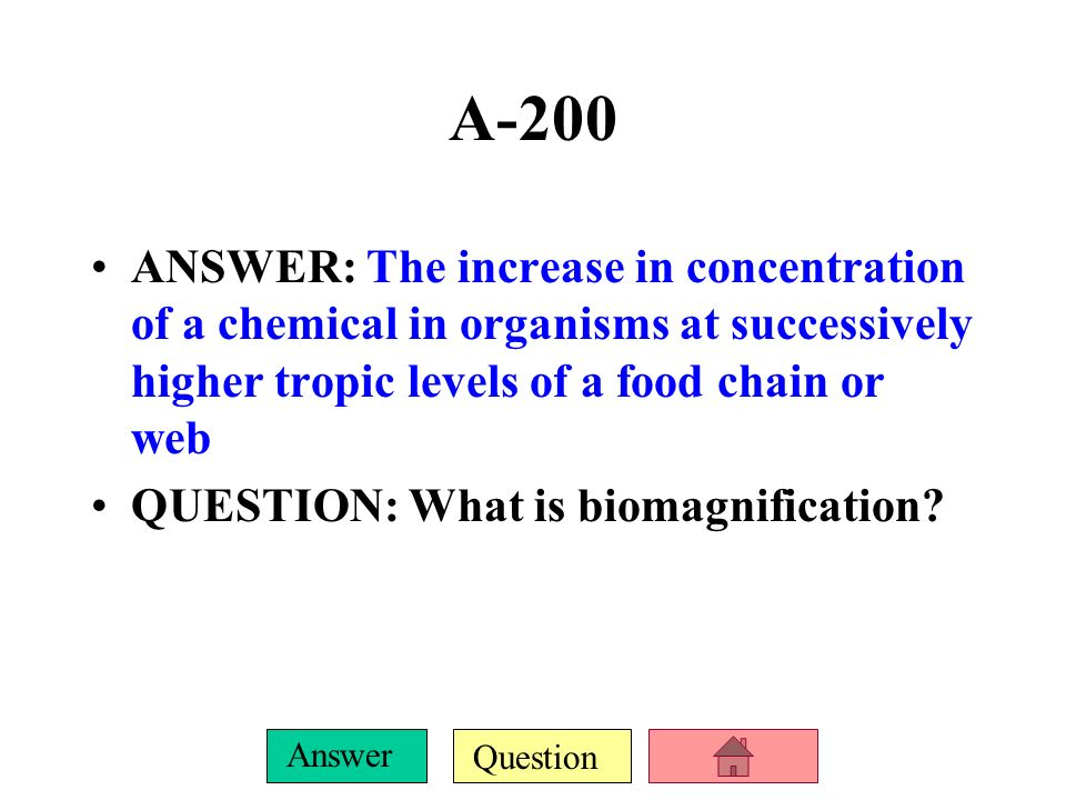 Question Answer A-100 ANSWER: Depletion of potentially renewable resources to which people have free and unmanaged access. QUESTION: What is the Trage